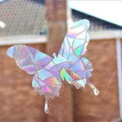 Rainbow Mix Butterfly SunCatcher Window Film Prism Sticker. Sun catcher Window Cling Decal Static Decoration.Maker Home,Car,Office,Caravan.June Gift 6