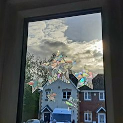 Rainbow Mix Twinkle Twelve Stars Sun catcher Window Film Prism Sticker. Suncatcher Window Cling Decal Static Decoration.Gift Maker Home, Car, Office