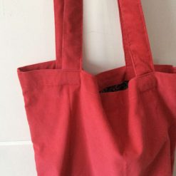 Coral Corduroy Tote bags