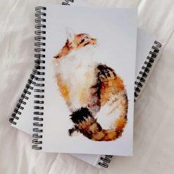 A5 spiralbound cat notebook