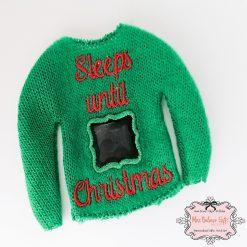 Naughty Elf Christmas Countdown Jumper