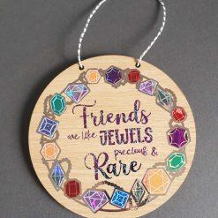 Wooden Plaque 15cm present for a friend