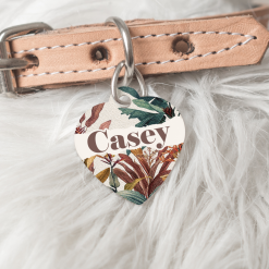Personalised Dog Cat Pet ID Tag Double Sided Circle Dog Tag
