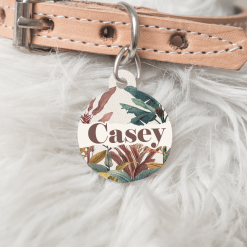 Personalised Name Dog Cat Pet ID Tag Double sided Circle Dog Tag
