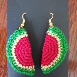 Crochet Lemon slice earrings - free delivery