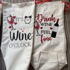Embroidered Bottle Bags