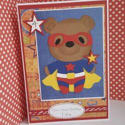 Super Hero Teddy Birthday Card