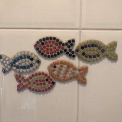 Mosaic shoal of fish