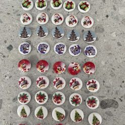 Wooden Christmas Buttons Set of 50