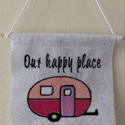 Embroidered Caravan Felt Hanging Signs