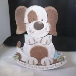 Happy Birthday Rocker Card Shaped-Dog