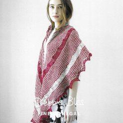 Womens Striped Crescent Shawl Knitting Pattern • PDF Download