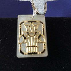 black gold Egyptian bag charm