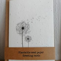 Wildflower seed paper cards | A6 recyclable | Dandelion | eco-friendly | biodegradable