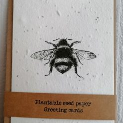 Wildflower seed paper cards | A6 recyclable | Bee | eco-friendly | biodegradable