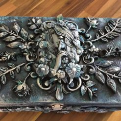 'Spirit of the Garden' Large Hand crafted wooden box