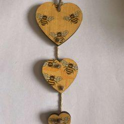 Triple hanging heart
