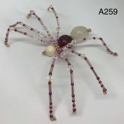 A259 Pink and Cream beaded spider