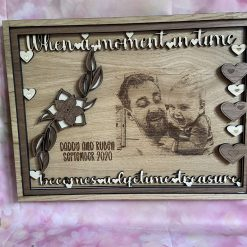 Unique 4 layered photo engraved frame  - turning a moment in time into a lifetime treasure