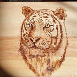 Pyrography Majestic Tigers Head