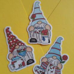Tea cup gnome stickers