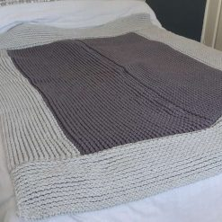 Two Toned Grey Chunky Blanket