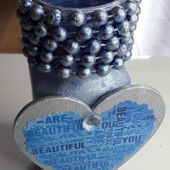 Inspirational Embellished Glass Pen Pot