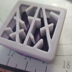 Mokume Gane pattern press- Abstract Lines