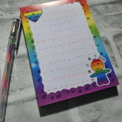 PRIDE A6 Notepad- LGBTQ - Memo pad - Stationary - Notes - Digital art - Rainbow notepad - Stickers