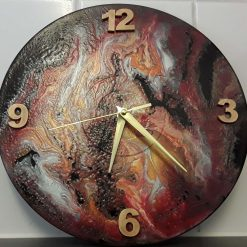 Recycled Vinyl Record Abstract Painted Clock - Venus