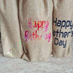 Hessian Bottle Gift Bag