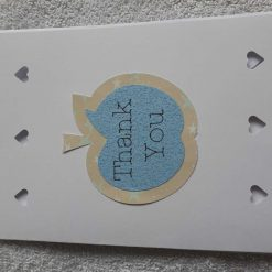 Blue apple thank you card