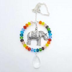 Rainbow elephant Sun Catcher