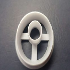 3D Printed 4.5cm Oval Donut Cutter for polymer clay