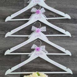 Bridal party dress hangers