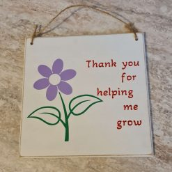 Thank you teacher hanging plaque