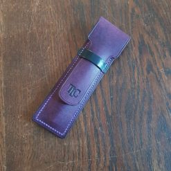 Purple Leather Pen Sleeve