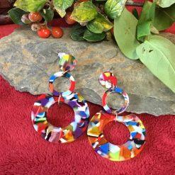 Acrylic Hoop Earrings