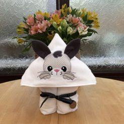 Bunny hooded towel