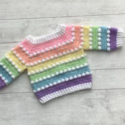Baby Rainbow Bobble Jumper