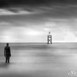 Wading out to sea at Crosby Beach