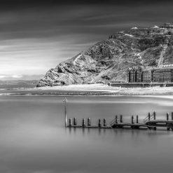16x10  Panorama print titled-The beauty of Aberystwyth in Black and White