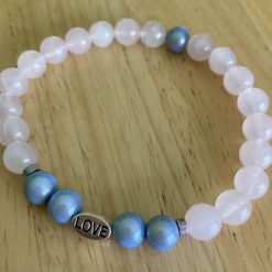 Rose Quartz & Miracle bead bracelet