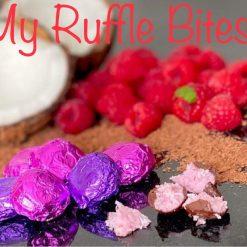 Raspberry Ruffle Bites