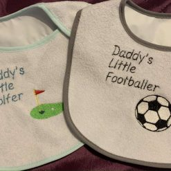 Embroidered Daddy Bibs
