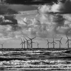 12x10 print of Burbo Bank Offshore Wind Farm. Burbo Flats, Liverpool Bay