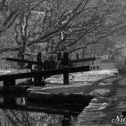 12x10 print of Lock 18E, Huddersfield Narrow Canal