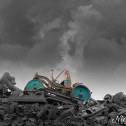 Rusting away on a pile of scrap