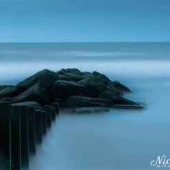 12x10 print titled Ogre in the sea at Cleveleys. Lancashire