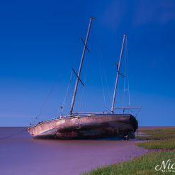 Run aground at Lytham St Annes.